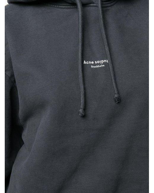 Худи С Логотипом Acne, цвет: Black