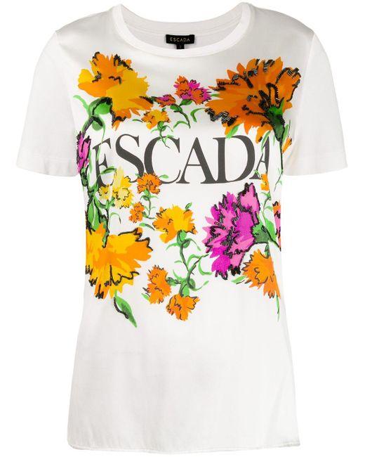 ESCADA フローラル Tシャツ White