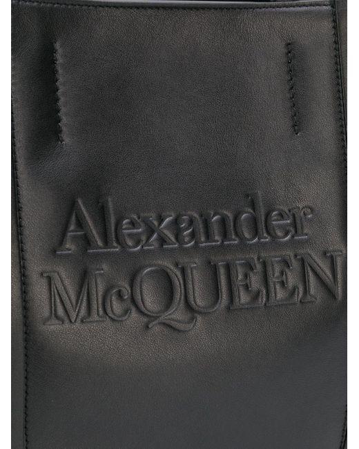 Сумка-тоут С Тисненым Логотипом Alexander McQueen, цвет: Black