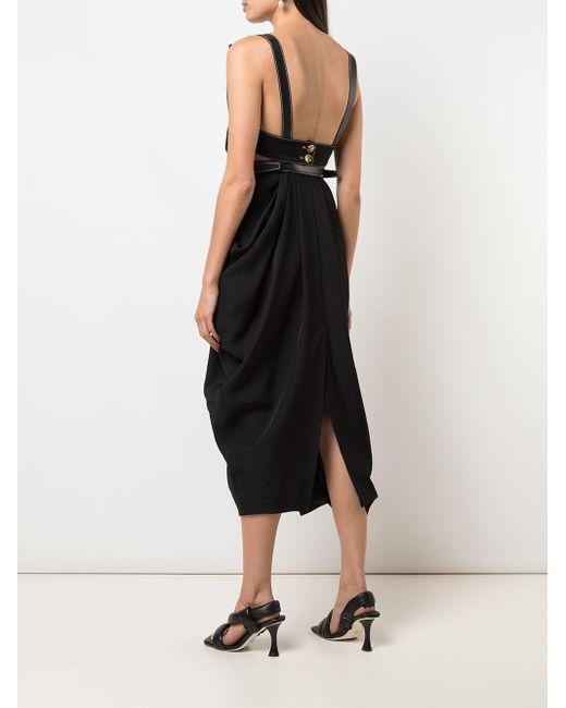 Платье Миди С Драпировкой Proenza Schouler, цвет: Black