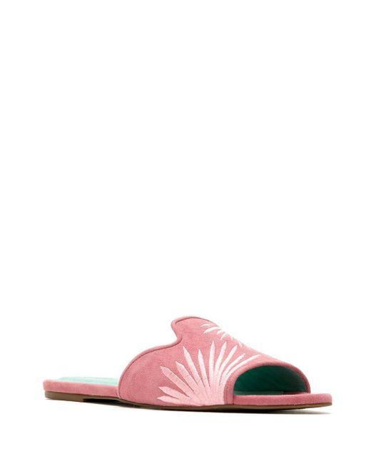 Blue Bird Shoes Palmeira エンブロイダリーサンダル Pink