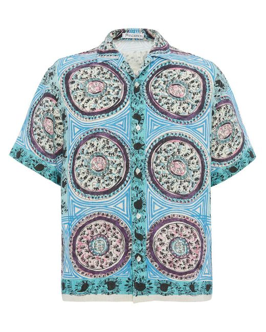 メンズ J.W. Anderson ミスティックペイズリーシャツ Blue
