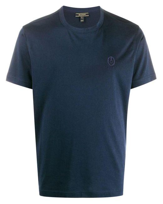 メンズ Belstaff ロゴ Tシャツ Blue