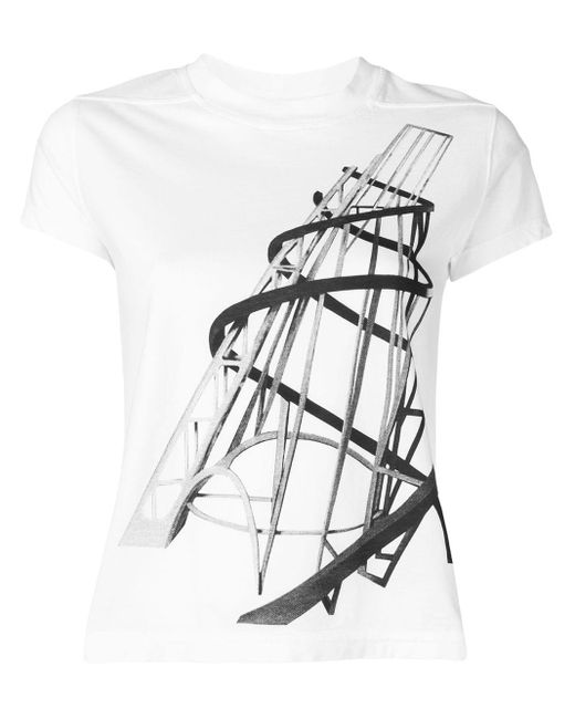 Rick Owens Drkshdw グラフィック Tシャツ White