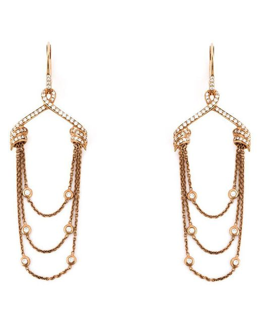 Stephen Webster - Metallic Draped Diamond Earrings - Lyst