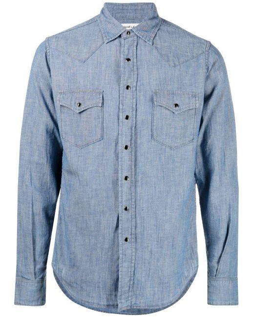 Camicia di Saint Laurent in Blue da Uomo