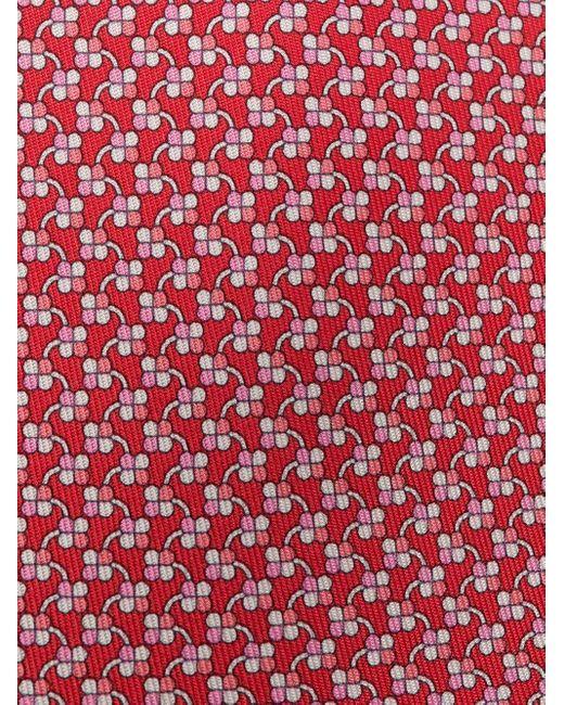 Галстук С Принтом Ferragamo для него, цвет: Red