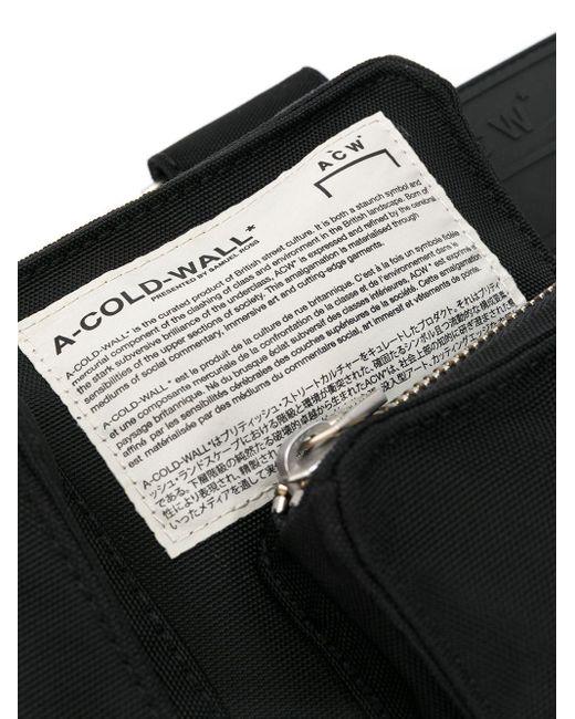 メンズ A_COLD_WALL* マルチポケット ベルトバッグ Black