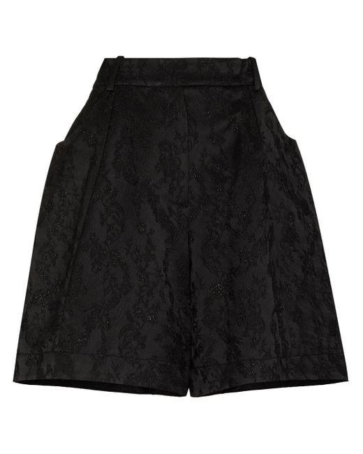 Shorts jacquard di Simone Rocha in Black