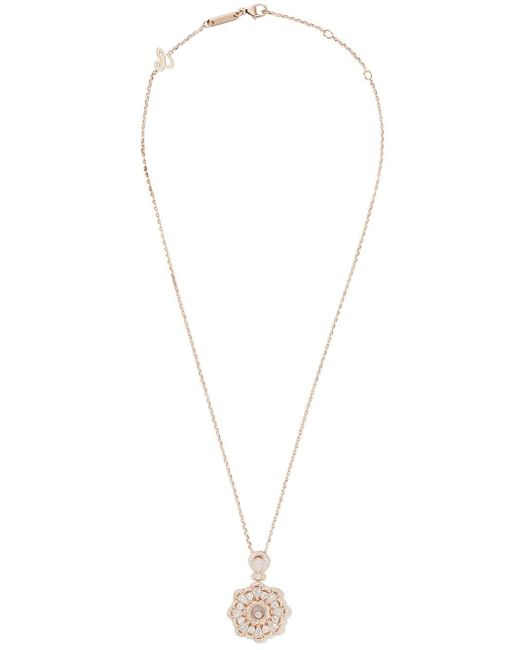 Chopard ハッピーダイヤモンド ネックレス 18kローズゴールド Metallic