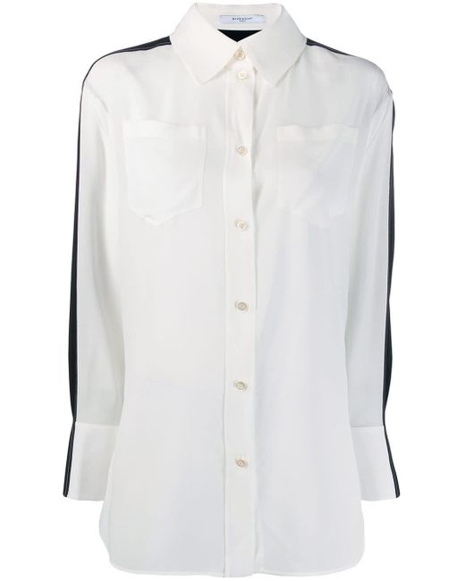 Givenchy バイカラーシャツ White