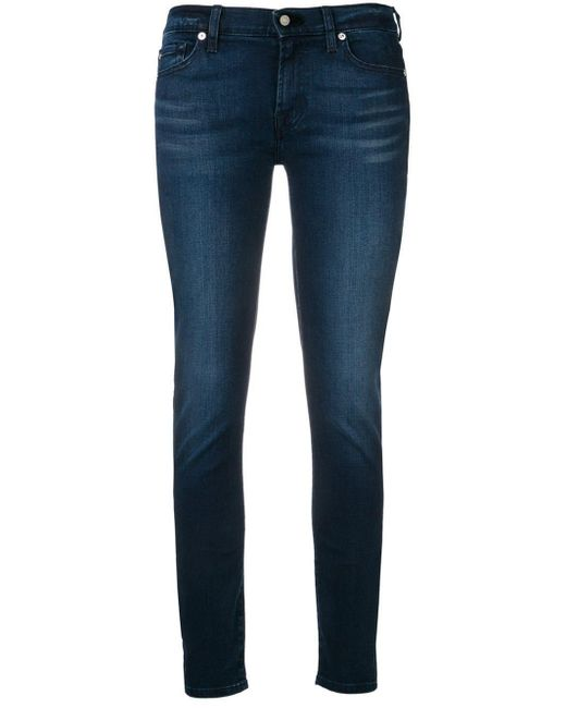 7 For All Mankind スキニージーンズ Blue