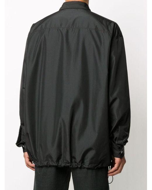Пальто С Кулиской Bottega Veneta для него, цвет: Black