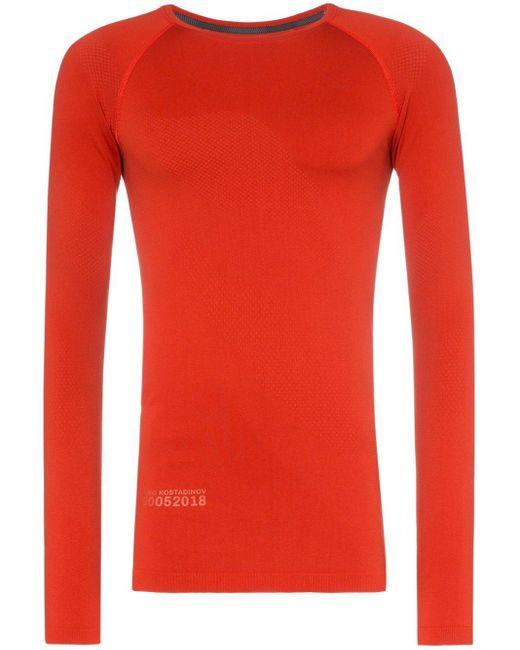 メンズ Asics X Kiko ロングtシャツ Red