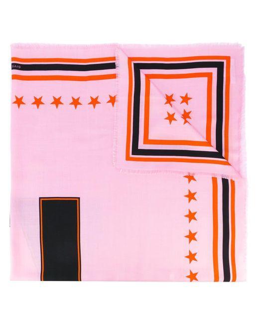 Givenchy 17 プリントスカーフ Pink