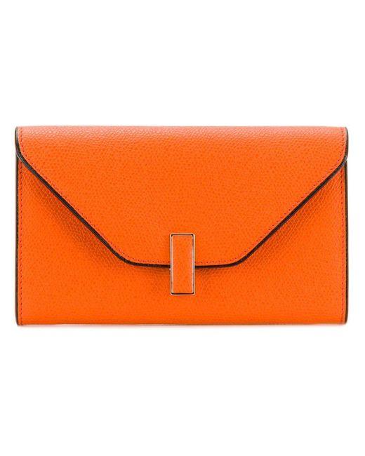 Valextra Iside 財布 Orange