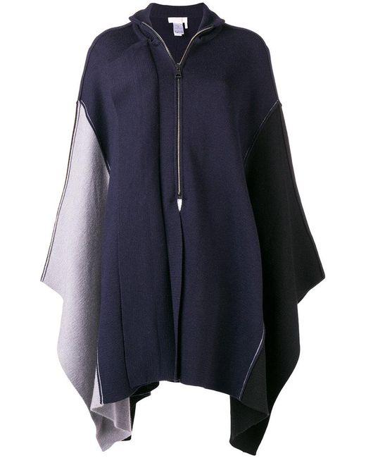 Chloé - Blue Asymmetric Zip-up Poncho - Lyst