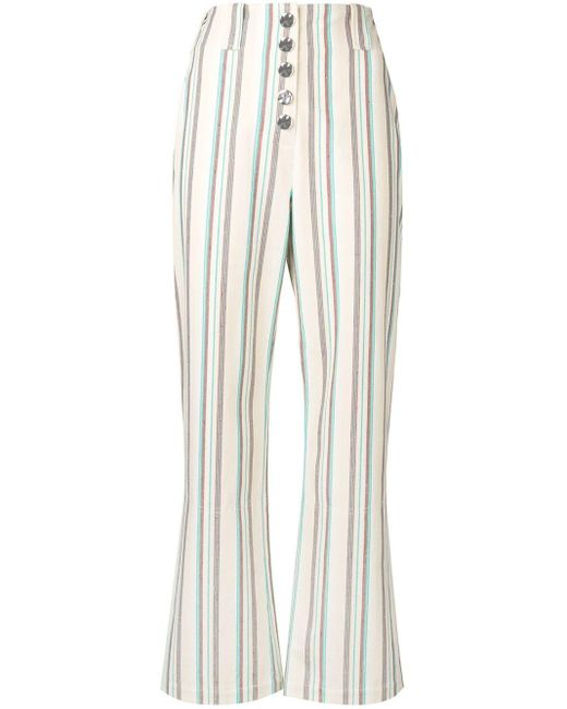3.1 Phillip Lim ストライプ フレア パンツ Multicolor
