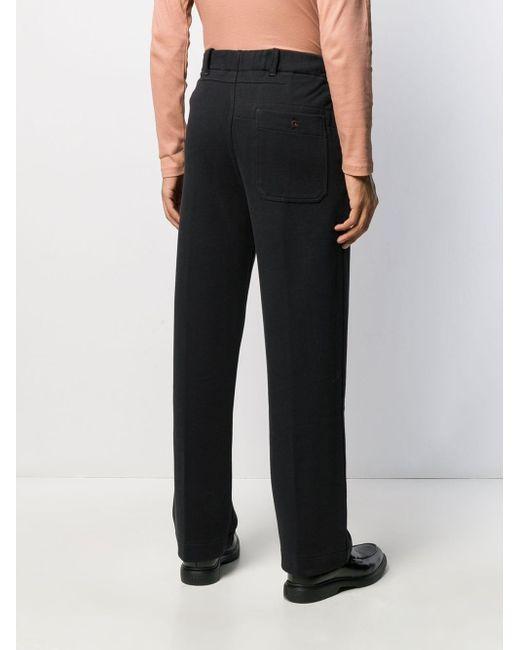 メンズ Lemaire テーラード ワイドパンツ Black