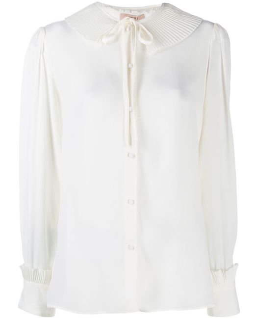 Twin Set プリーツ カラー シャツ White