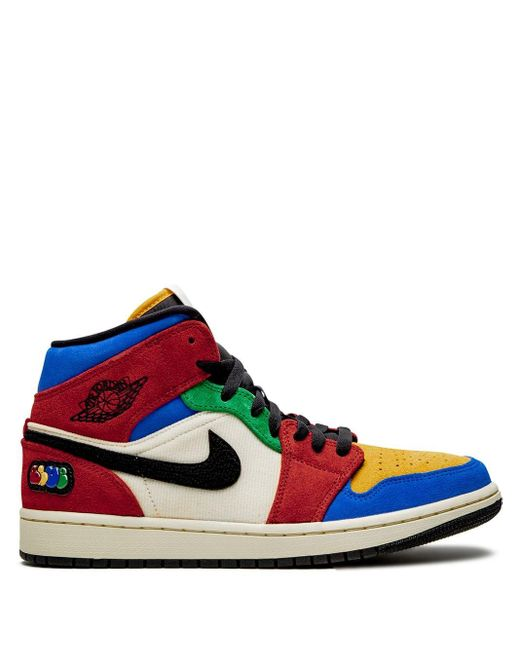 Nike Red 'Air 1 Mid Blue The Great-Fearless' Sneakers