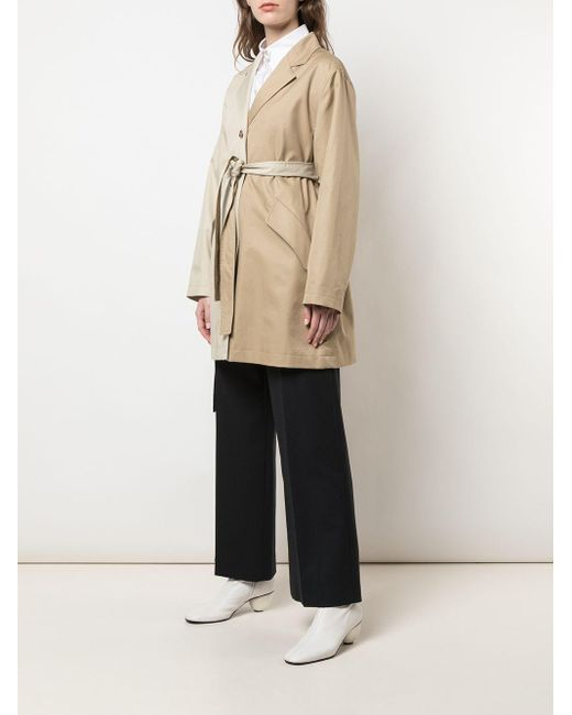 MM6 by Maison Martin Margiela バイカラー コート Natural