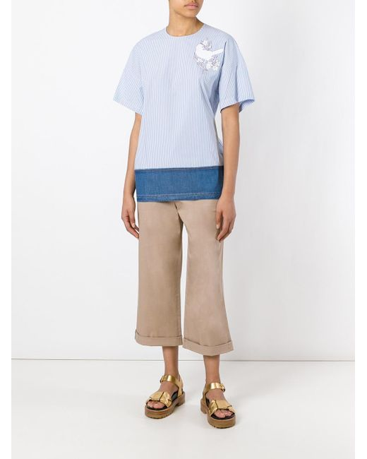 flared cropped trousers - Nude & Neutrals N°21 NhqJdMmSd8