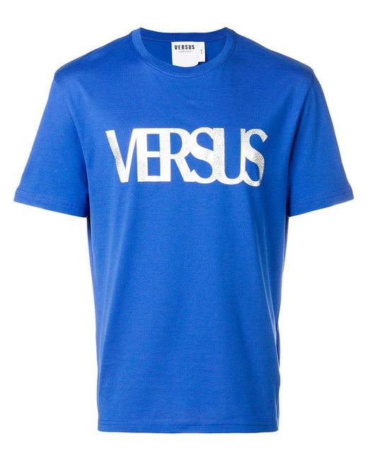 Versus  - Blue T-Shirt mit Print for Men - Lyst
