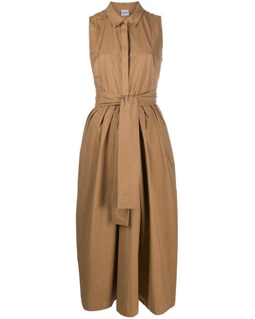Aspesi Robe-chemise à taille nouée femme tVaaI