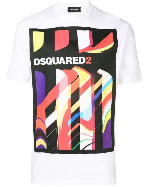 メンズ DSquared² プリント Tシャツ Multicolor