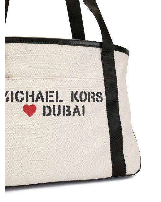 Michael Kors ロゴ ハンドバッグ White