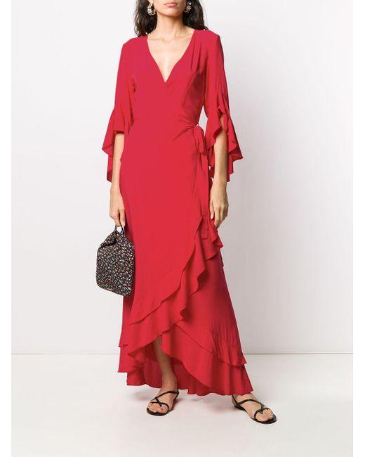 Melissa Odabash Cheryl ラップマキシドレス Red