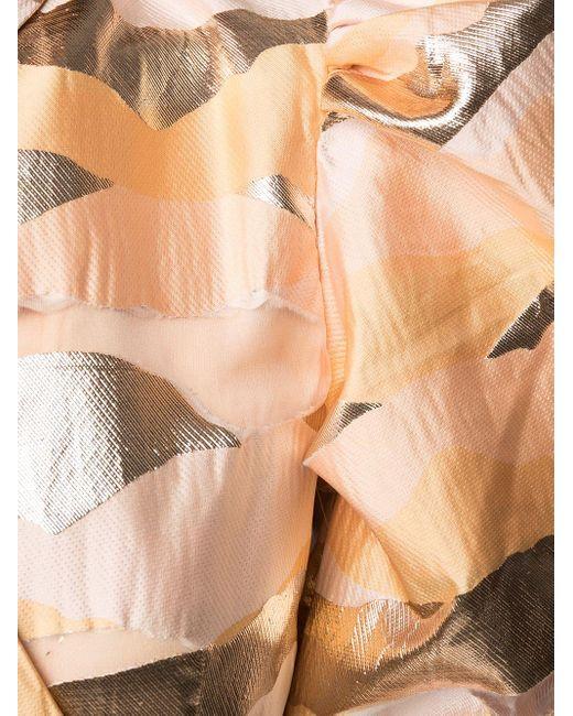 Stine Goya アブストラクトパターン フレアドレス Orange