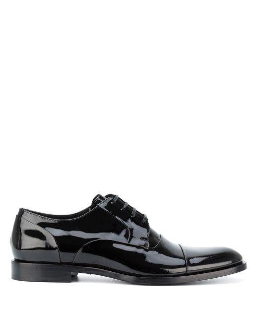 Туфли Дерби На Шнуровке Dolce & Gabbana для него, цвет: Black