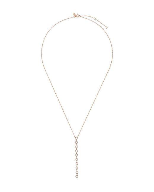 EF Collection ダイヤモンド ドロップネックレス 14kゴールド Metallic