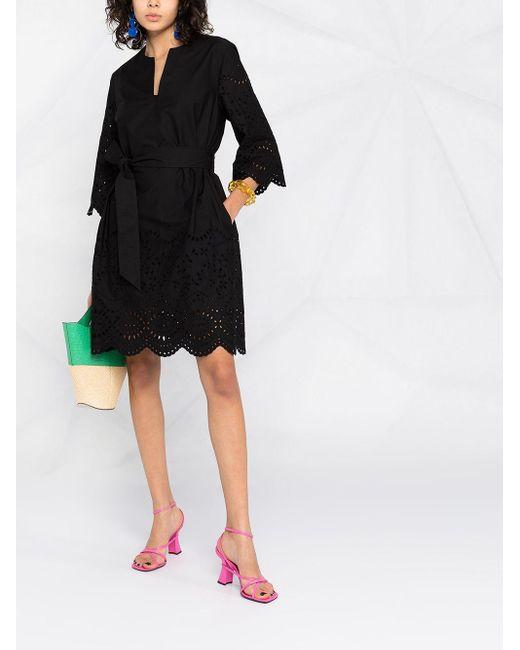 P.A.R.O.S.H. アイレットレース ドレス Black