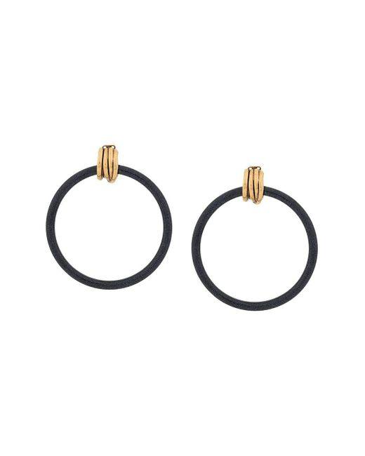 Balenciaga Blue Hoop Earrings