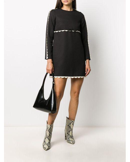 Платье Мини С Фестонами RED Valentino, цвет: Black