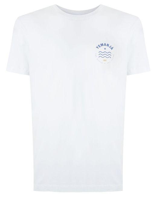 メンズ Osklen Stone Yemanjá Circle Tシャツ White