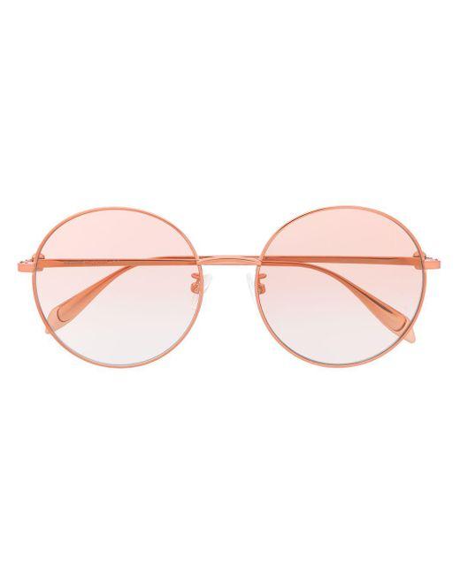 Occhiali da sole tondi di Alexander McQueen in Pink
