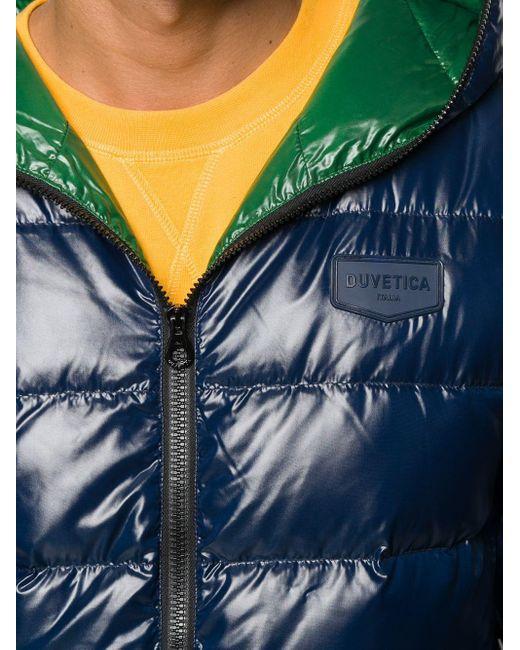 メンズ Duvetica フーデッド パデッドジャケット Blue
