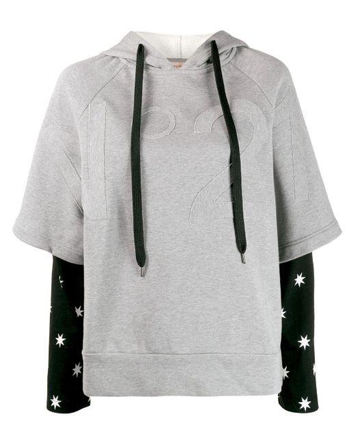 N°21 レイヤード スウェットシャツ Gray