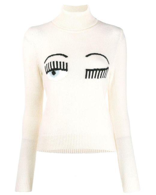 Chiara Ferragni Flirting セーター White