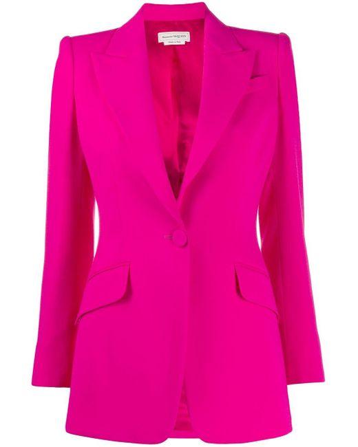 Alexander McQueen シングルジャケット Pink