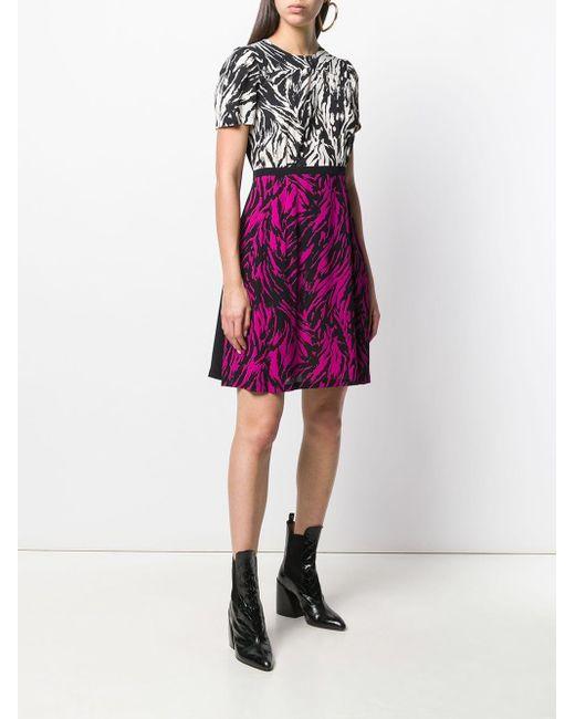 N°21 ゼブラプリント ドレス Black