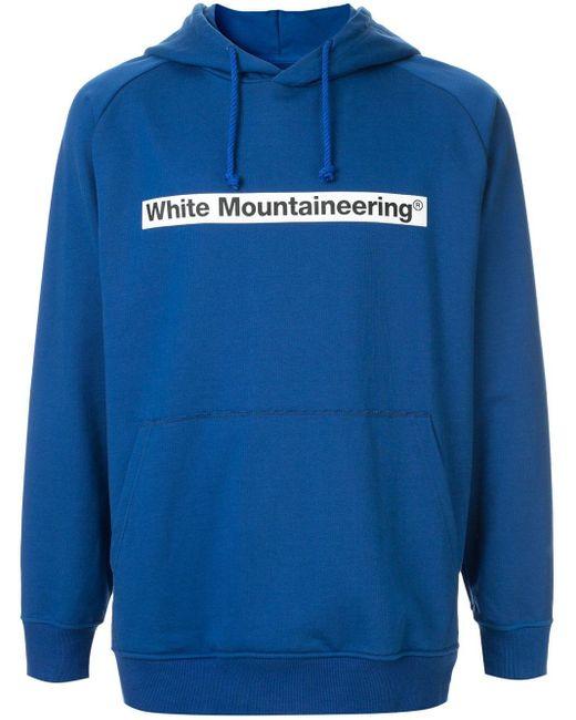 メンズ White Mountaineering ロゴ パーカー Blue