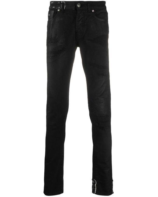 Jean skinny à effet usé John Richmond pour homme en coloris Black