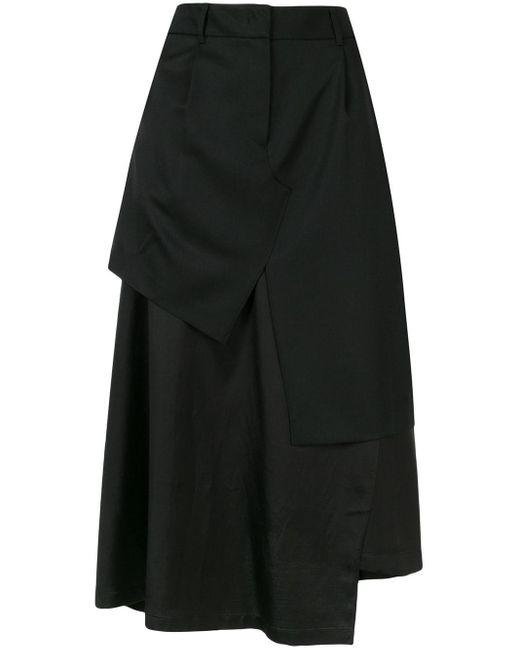 Goen.J レイヤード スカート Black