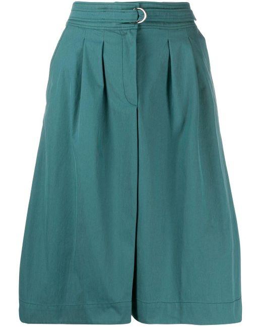 A.P.C. ベルテッド Aラインスカート Blue