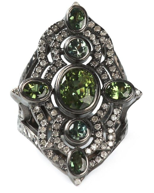 Loree Rodkin - Metallic Embellished Ring - Lyst